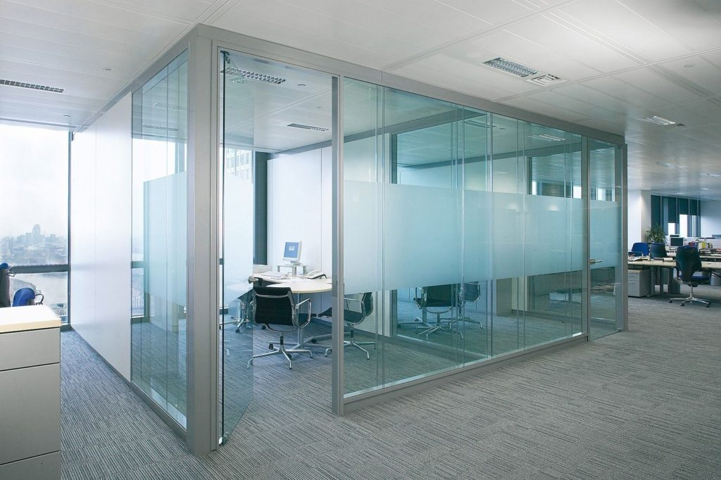 Office glass partition works in dubai uae